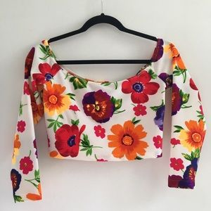 American apparel floral long sleeve shirt